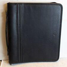Avenues America Black Faux Padded Leather Planner Portfolio Full Zip