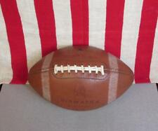 Vintage 1960s Hiawatha Leather Football with Laces Official Size Cowhide Rare
