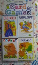 Set of 4 Packs of Children's Playing Cards (Snap, Donkey, Old Maid, Animal Snap)