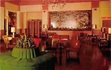 Kalamazoo Michigan 1960s Postcard Burdick Hotel Lobby