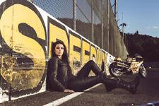 Icon  Black Hella 1000 Women's Medium MD Street Motorcycle Jacket (2822-0665) HB