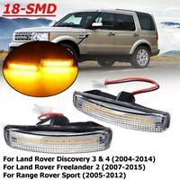 Pair LED Side Indicator Light For Range Rover Sport Freelander 2 Discovery 3 4