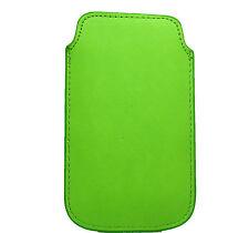 Funda para Telefono Movil iPhone 4G 3G 3Gs Color Verde Calidad Cosida 913verde