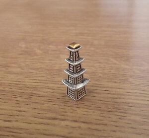 1/12 dolls house miniature Pagoda Oriental Ornament fireplace Table Cabinet  LGW