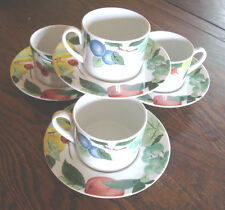 Studio Nova Orchard Jewels dinnerware set of 4 coffee cup & saucer Y0253 fruit