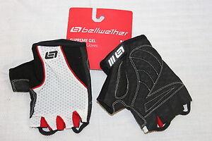 Bellwether Mens Supreme Gel CYCLING GLOVES Fingerless Gloves XX L Blk & Wht