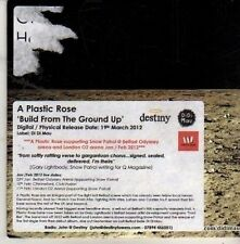 (CM366) A Plastic Rose, Build From The Ground Up - 2012 DJ CD