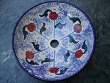 Carnation Hand-Painted Ceramic Vessel Sink