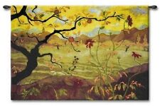 GARDEN OVER LOOK ASIAN FRUIT TREE ABSTRACT ART TAPESTRY WALL HANGING 53x35