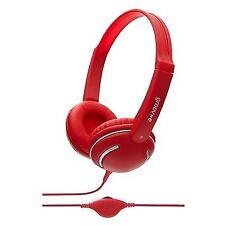 Groov-e Gv897 Streetz Stereo Full Over Ear Mp3 Headphones Volume Control Red