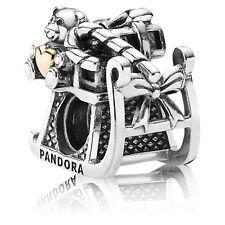 Authentic Pandora 925 14k #791207 Dashing Through The Snow Slide Bead Charm NWOT