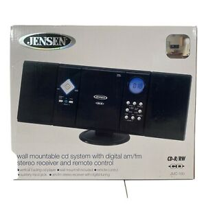 Jensen JMC180 CD-R/RW Radio Alarm Player with Stereo Speakers - Black W/Remote