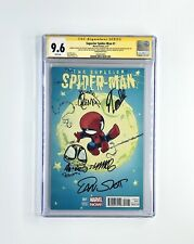 Superior Spider Man 1 Cgc Ss 9.6 Signed 5X W/Skottie Young Sketch, Stan Lee +3