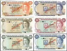 BERMUDA Lot (6) SPECIMEN SET 1, 5, 10, 20, 50, 100 Dollars 1978-84 P# CS1 UNC