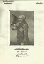 König Friedrich der Große - 5 alte Drucke um 1910 Porträt Persönlichkeit