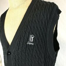 Head TPC Sawgrass Golf Black Sweater Vest The Players Championship Embroidered 8
