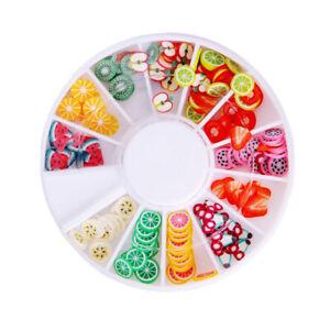 3D Polymer Nail Art Stickers Tiny Fimo Fruit Slices UV Gel Tips DIYDesign 200Pcs