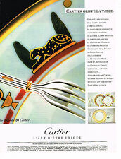 PUBLICITE ADVERTISING 094  1989  CARTIER griffe de la table 2
