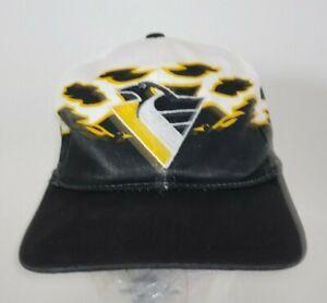 Vintage Pittsburgh Penguins Flames Embroideries Snapback Hat Cap Kids NHL Hockey