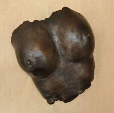 Classic Bronze Female Breast  Breast Torso, Original Sculpture by Todd Bokich
