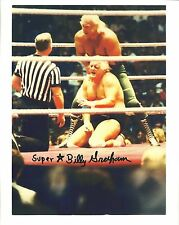 BGP12   Superstar Billy Graham signed 8x10 /COA  **BONUS**  nerve hold on Dusty