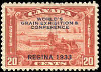 Used Canada 1933 20c F-VF Scott #203 Grain Exhibition Issue Stamp