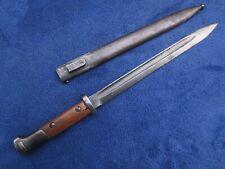 ORIGINAL CZECH M1924 MAUSER BAYONET AND SCABBARD WW2 GERMAN MODIFICATION