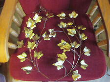 Vintage Home Interiors Brass Art Ivy Leaf Leaves Picture Accents Lot of 2