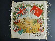 More details for antique ww1 printed silk panel - souvenir of egypt
