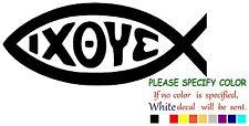 """IXOYE FISH Ichthys Vinyl Decal Sticker Car Sticker truck Window bumper Window 7"""""""
