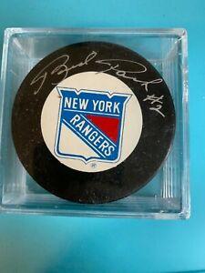 HOF Brad Park New York Rangers Signed Hockey Puck