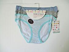 St Eve Black Brief Underwear With Pink Trim 90/% Nylon 10/% Spandex Medium Large