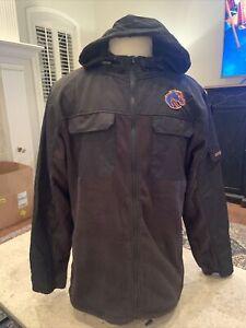 NWOT Boise State Broncos Colosseum Full-Zip Hoodie Coat/Jacket Black Men's Large