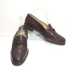 Women's Cappagallo Brown Leather Herring Bone Toe Loafers Size 7 N