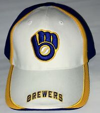 NEW w/Tags MLB Milwaukee Brewers Blue White Gold Baseball Cap Hat FREE Shipping!
