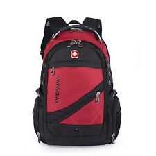 Fashion Swiss Gear Men Travel Bags Macbook laptop hike red color backpack