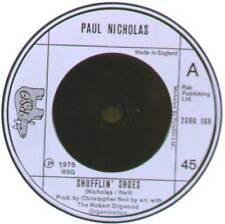 """PAUL NICHOLAS ~ SHUFFLIN' SHOES / A HIT SONG? ~ 1975 UK 7"""" SINGLE ~ RSO 2090 168"""