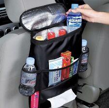 Asiento trasero coche multi-Bolsa de almacenamiento de bolsillo compartimento organizador con soporte de refrigeración