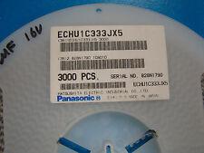 Panasonic Dielectric Film 1206 Size 0.033uF/16V 5% ECHU1C333JX5, 100pcs