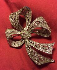Stunning Kenneth Jay Lane Jewelry Pace Rhinestone Bow Brooch-KJL Bridal Wedding