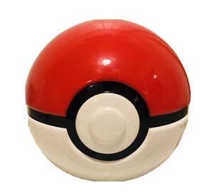 Pokemon Pokeball Coin Piggy Bank Ceramic Red White Nintendo Game Freak Round