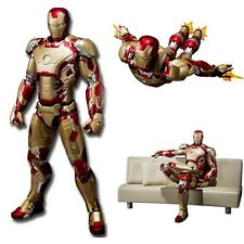 SHFiguarts Marvel Iron Man Mark 42 with Sofa PVC Action Figure PVC Toys Kid New