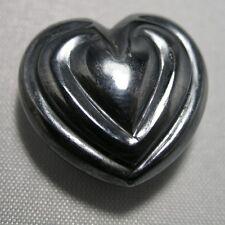 Genuine Haematit Heart 60ct 0 7/8x0 25/32in