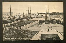 Mint Vintage Basin Quay Tralee Co Kerry Ireland Real Picture Postcard RPPC