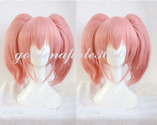 Cinderella Girls MIKA JOUGASAKI Dark Pink Double Ponytails Cosplay Wig Party Wig