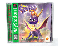 Spyro The Dragon - Original PS1 Playstation 1 Game COMPLETE BLACK LABEL! Tested