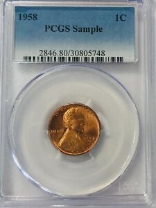 1958  Proof Lincoln Memorial Penny 1C PCGS Sample