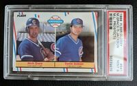 1988 FLEER GLOSSY #641 MARK GRACE ROOKIE CARD RC CHICAGO CUBS HOF PSA 9 MINT