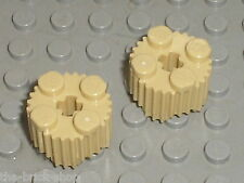 2 x LEGO Tan Brick Round with Grille ref 92947 / set 7985 70596 70749 9516 70168