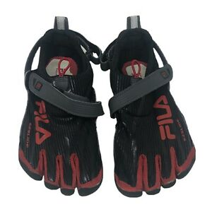 Fila Skeletoes EZ Slide Mens Red Black 5 Fingers Shoes Size 8